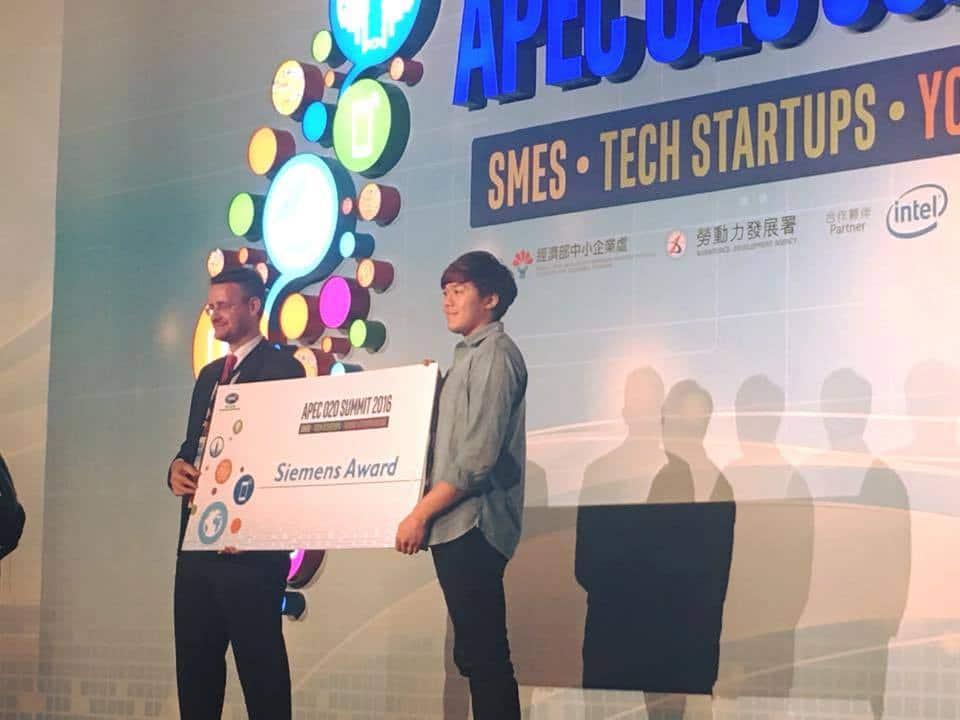 2016 APEC中小企業O2O高峰會:勇奪Siemens獎