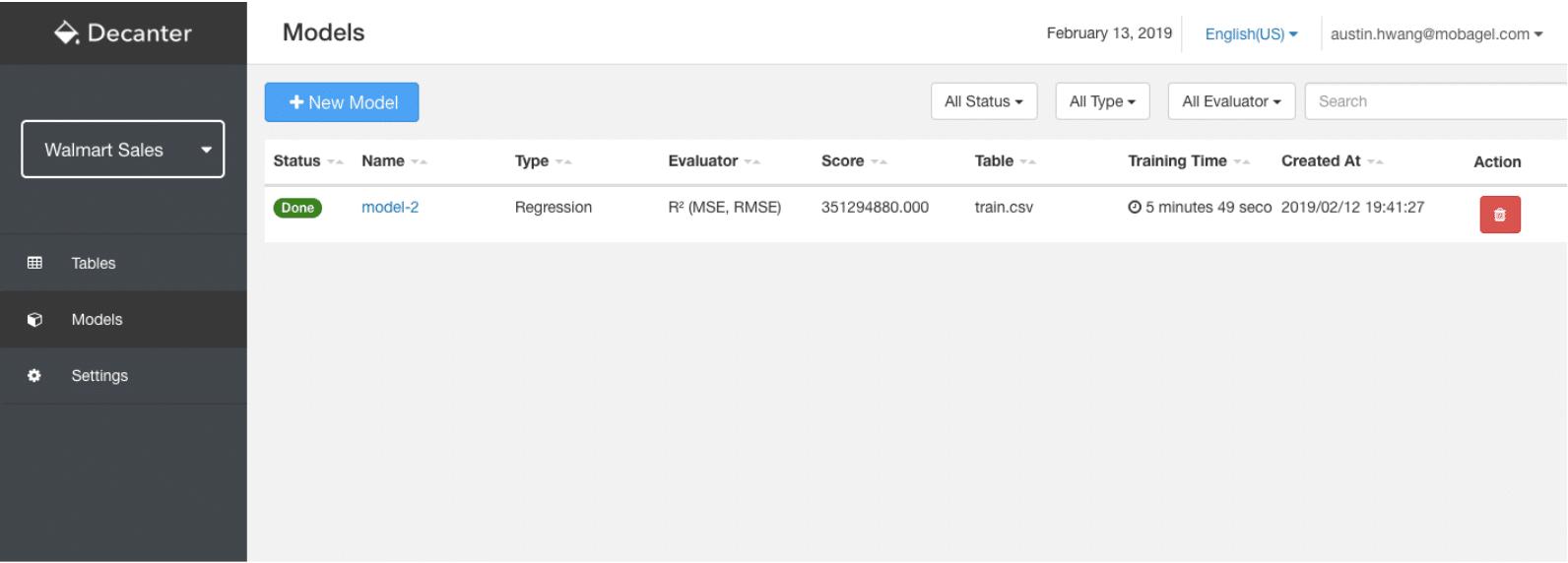 Automated Machine Learning Model Building Excel Decanter AI Mobagel AutoML IBM SAS Datarobot 自動化機器學習 企業數據 提升業績 銷售預測